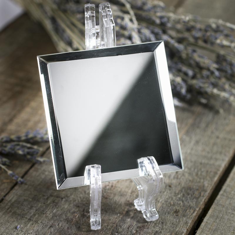 Square beveled mirror centerpiece mirrors party