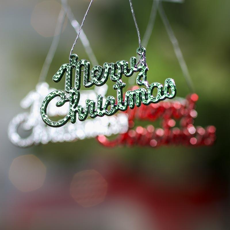 "Merry Christmas Ornaments: Miniature ""Merry Christmas"" Ornaments"