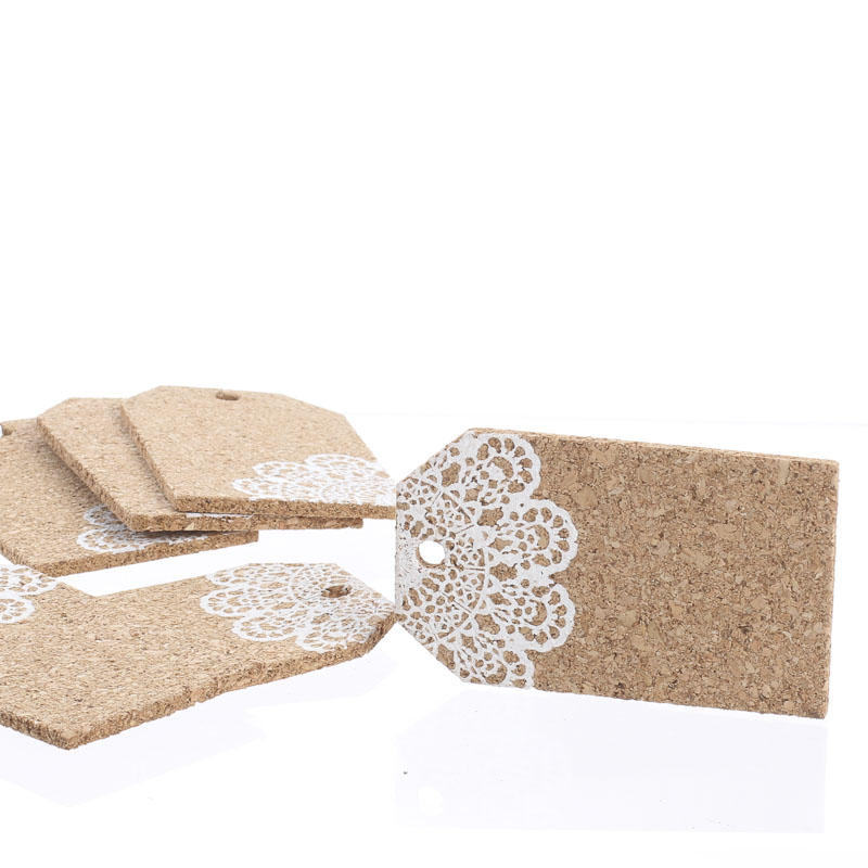 Rustic natural cork and lace tags tags basic craft for Natural corks