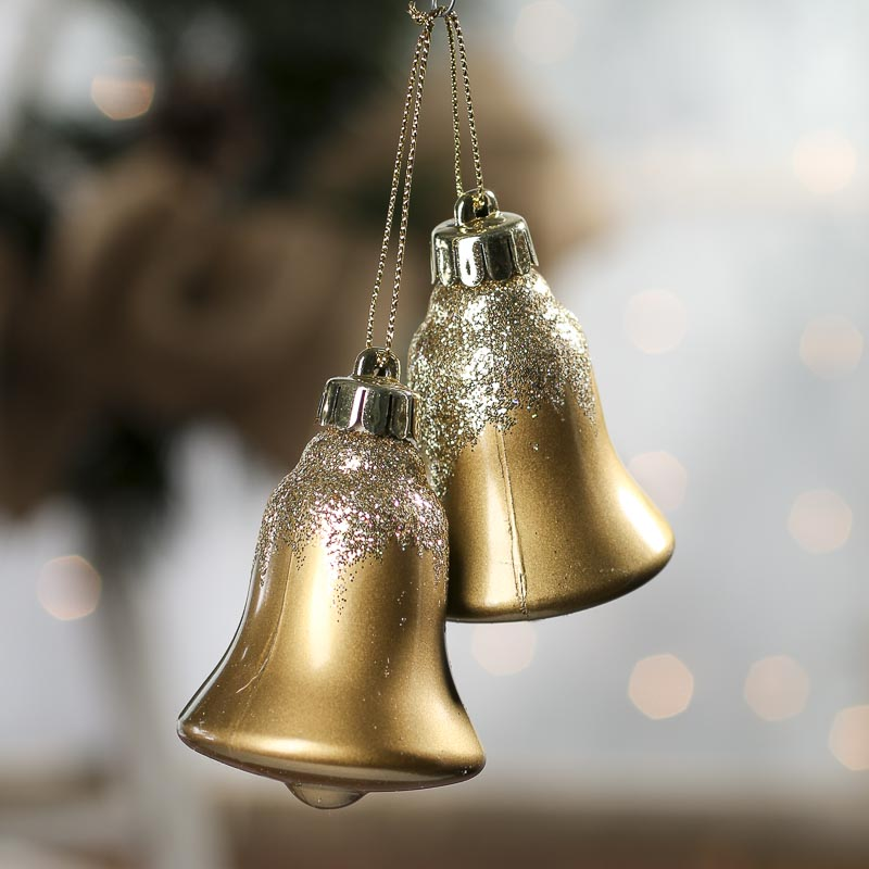 Click Here For A Larger View - Glittered Liberty Bell Christmas Ornaments - Christmas Ornaments