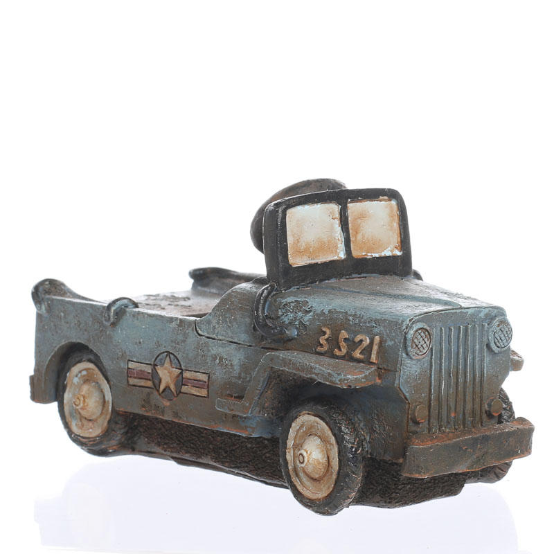 Antique military pedal car model table decor home decor for Antique car decor