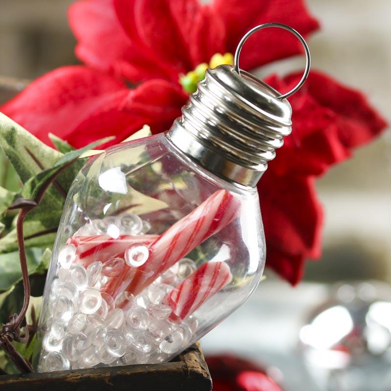 Acrylic Fillable Light Bulb Ornament - Acrylic Fillable Ornaments - Christmas and Winter ...