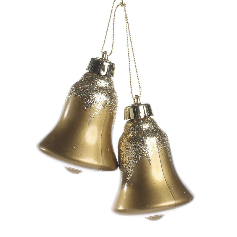 Glittered liberty bell christmas ornaments and