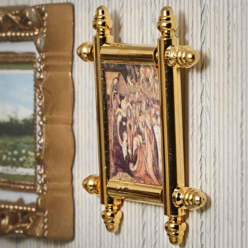 Dollhouse Miniature Elegant Framed Epiphany Painting