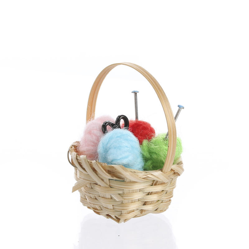 Knitting Items For Sale : Miniature knitting basket on sale craft supplies