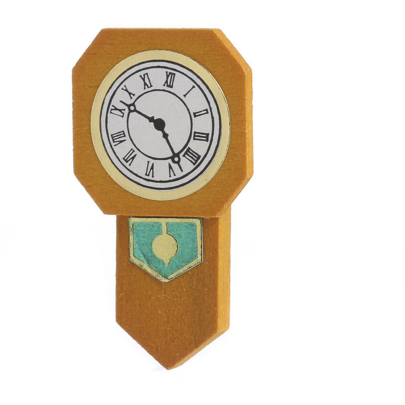 Miniature Pendulum Wall Clock Living Room Miniatures