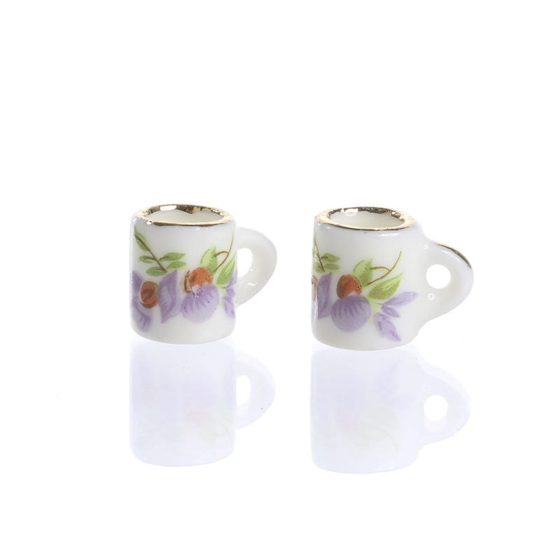 Dollhouse miniature coffee cups kitchen miniatures for Coffee mug craft kit