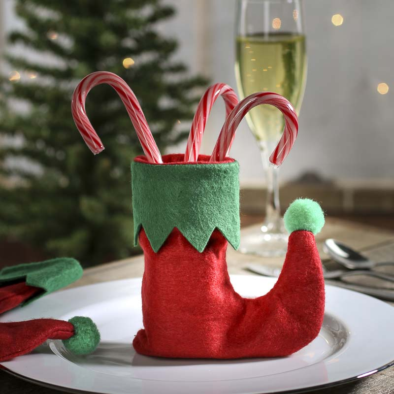 Small Felt Elf Stockings Table Decor Christmas And
