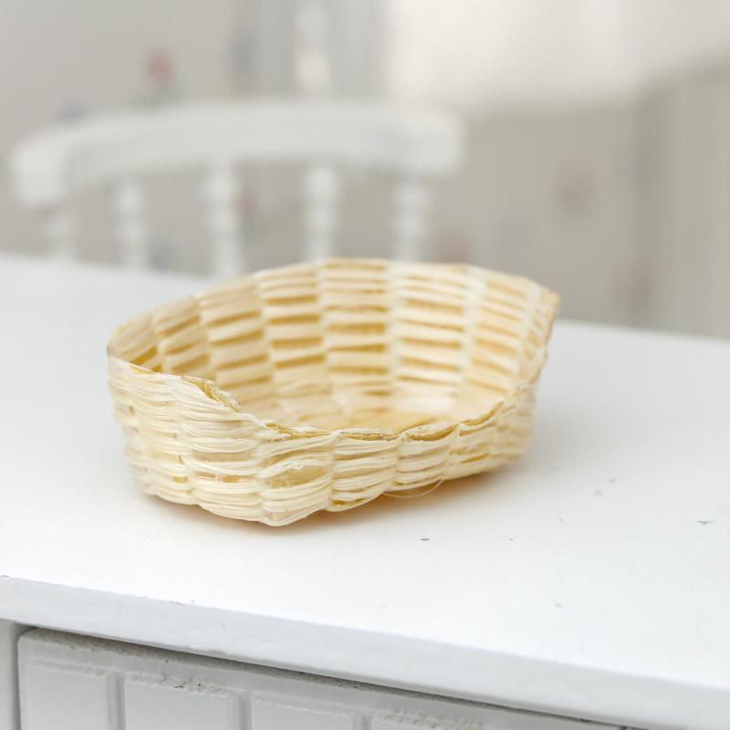 Bamboo Basket Making Supplies : Dollhouse miniature wicker basket animal miniatures