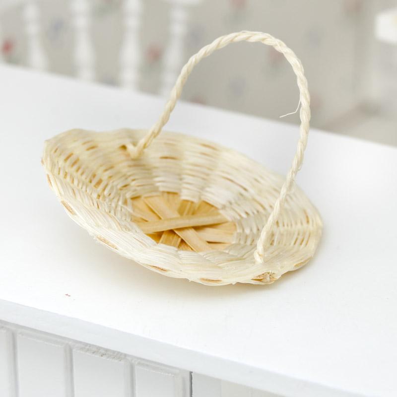 Bamboo Basket Making Supplies : Dollhouse miniature wicker flower basket kitchen