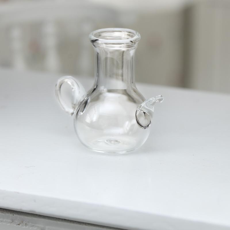 Dollhouse Miniature Glass Teapot Vase Living Room Miniatures