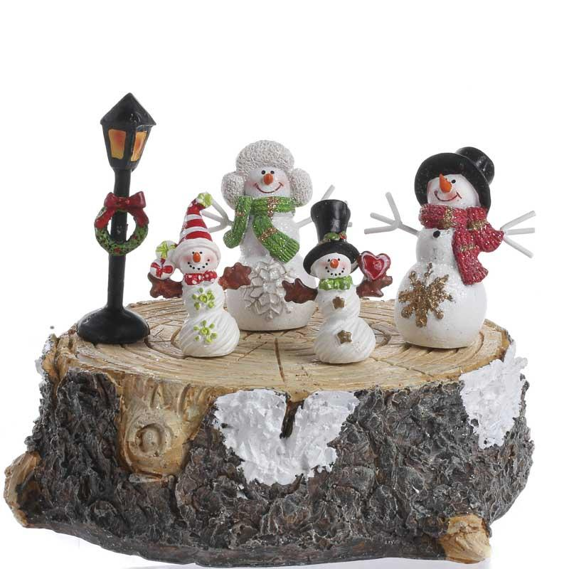 Winter Wonderland Snowman Family Set