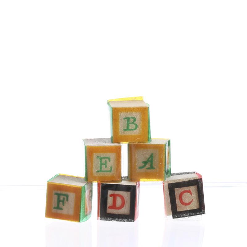 Dollhouse Miniature Alphabet Blocks Nursery Miniatures Dollhouse Miniatures Doll Making