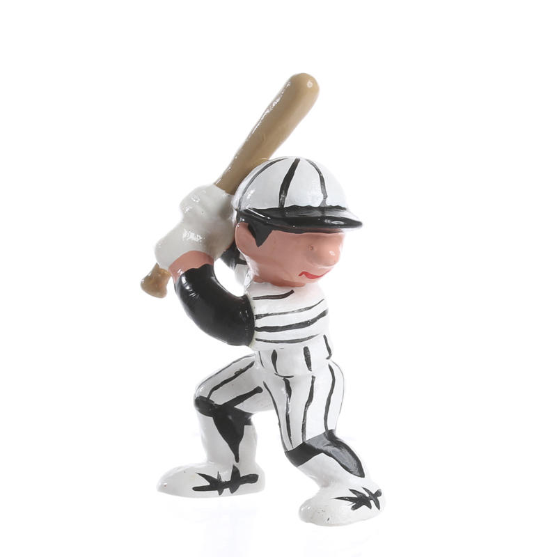 Miniature up to bat baseball player recreational for Mini baseball bats for crafts