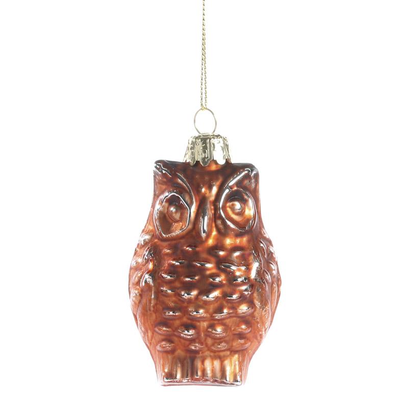 Copper mercury glass owl ornament christmas ornaments