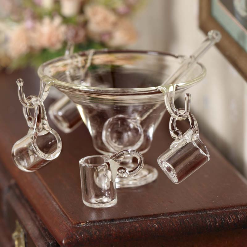 Miniature Dollhouse Amber Glass Tapered Water Glass