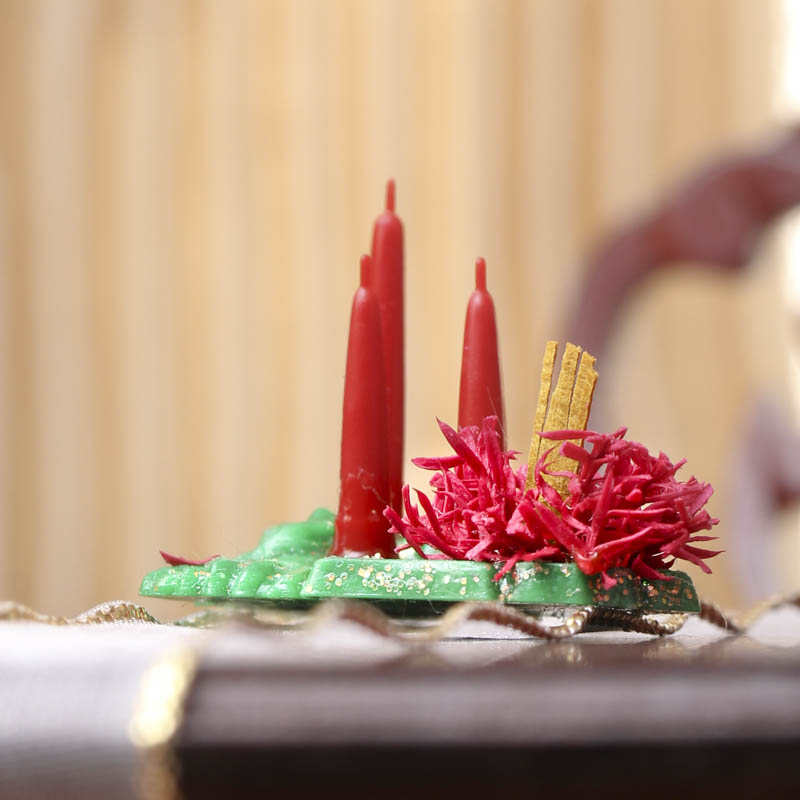 Dollhouse miniature christmas centerpiece miniatures