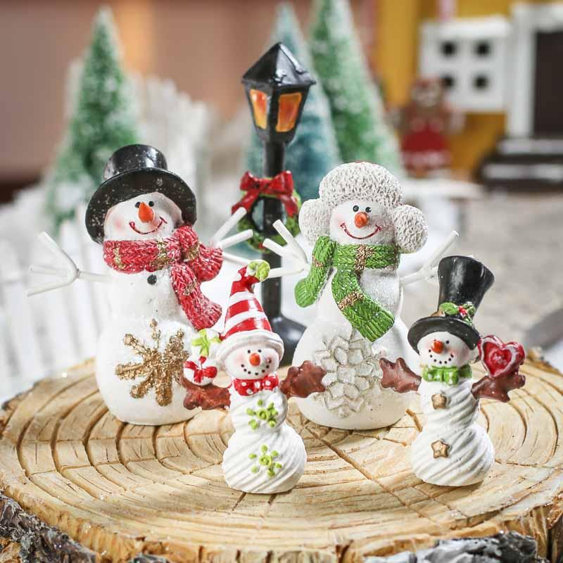 Winter Wonderland Snowman Family Set - Table Decor - Home ...