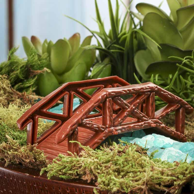 Gnome Garden: Miniature Faux Wood Bridge