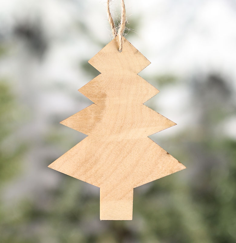 Unfinished Wood Tree Laser Cut Ornaments Christmas