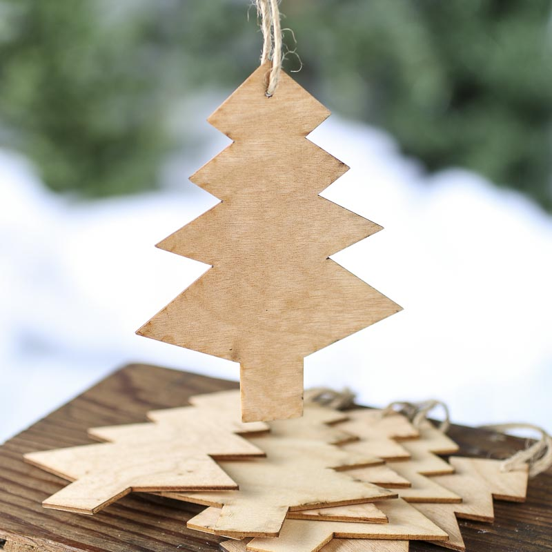 Unfinished Wooden Christmas Ornaments