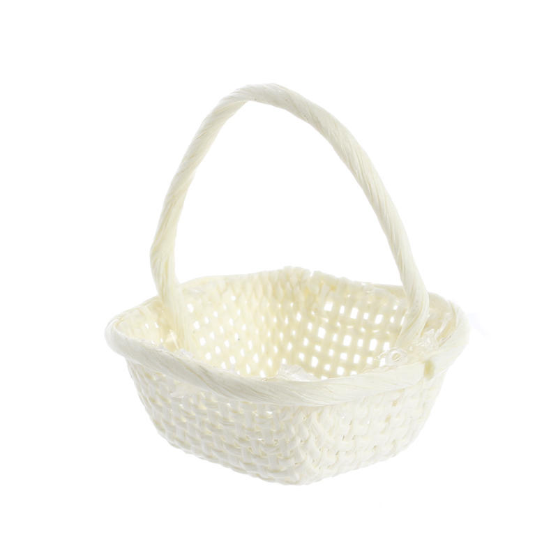 Bamboo Basket Making Supplies : Dollhouse miniature ivory wicker basket kitchen