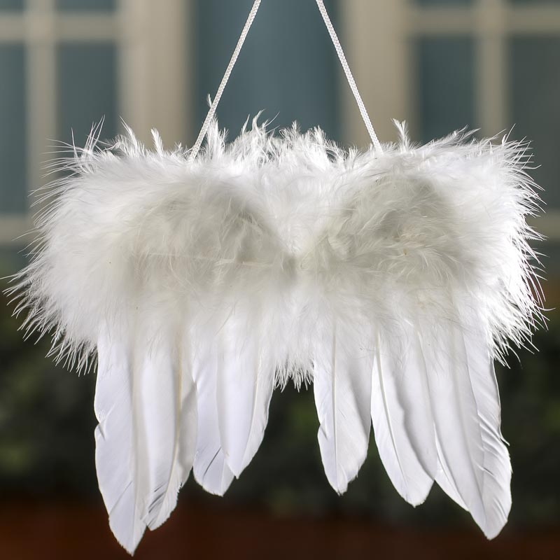 white feathered angel wings - angel wings