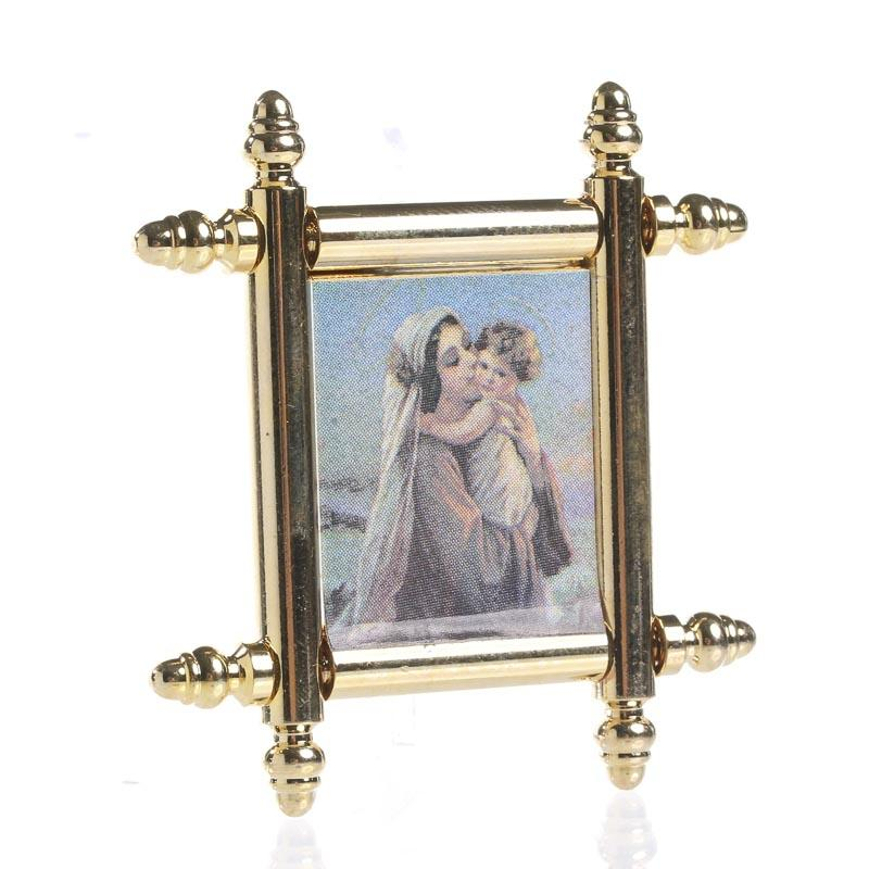 Dollhouse Miniature Elegant Framed Jesus and Mary Painting - Living ...