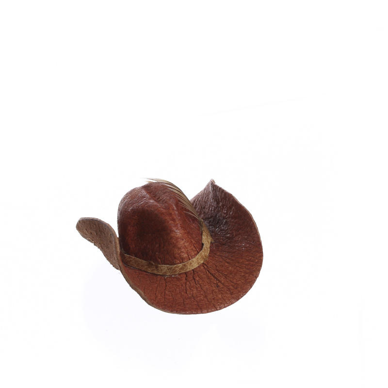 Dollhouse miniature cowboy hat for Tiny cowboy hats for crafts