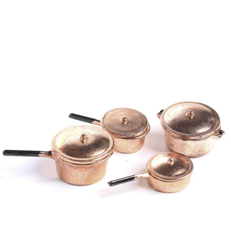 Dollhouse Miniature Copper Pots And Pans On Sale Craft