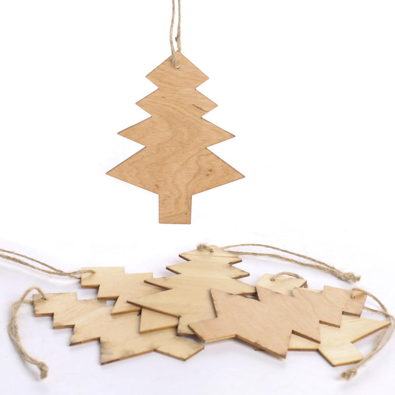 Unfinished wooden christmas ornaments photo album for Wooden christmas cutouts