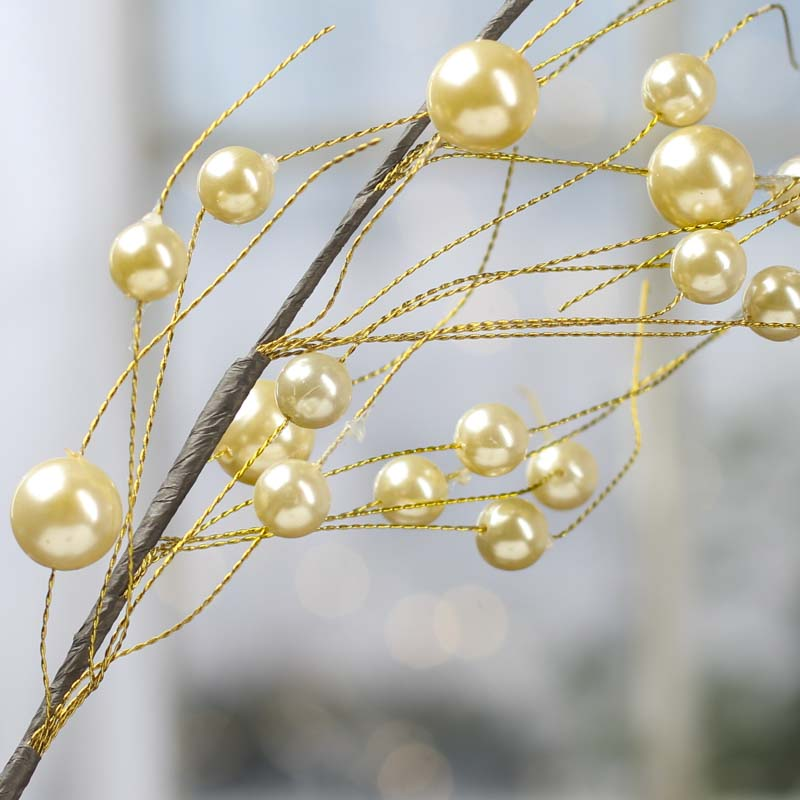 Gold Pearl Bead Spray Picks And Stems Floral Supplies