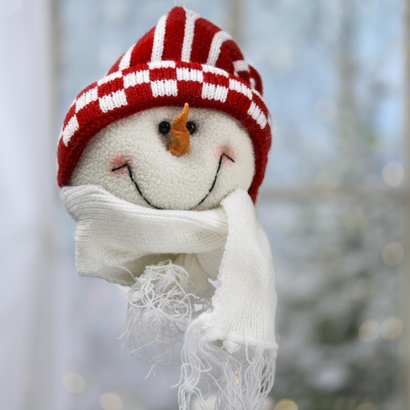 Plush Snowman Ornament - Christmas Ornaments - Christmas ...