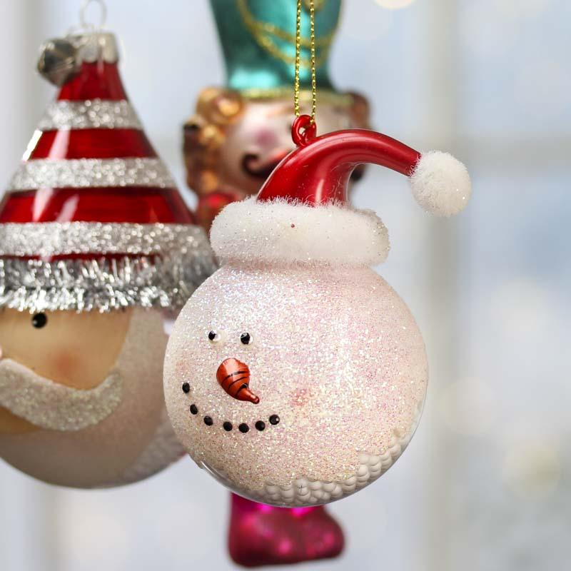 Religious Christmas Ornament Assortment: Assorted Glass Christmas Ornaments