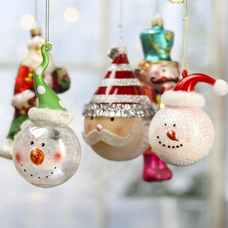 Assorted glass christmas ornaments on sale home decor for Christmas ornaments sale