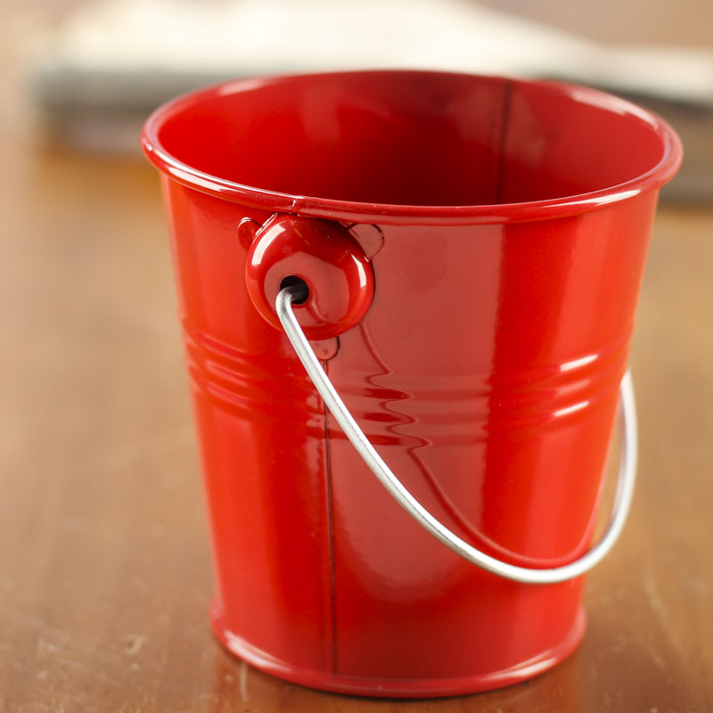 Red Metal Pail Baskets Buckets Amp Boxes Home Decor