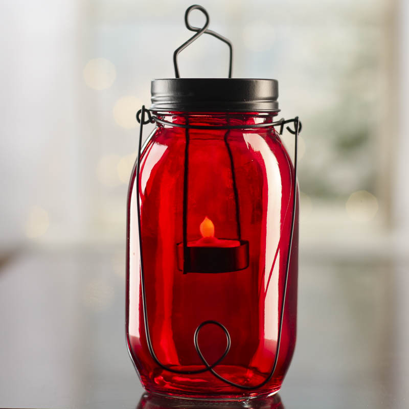 Mason Jar Tea Light Candle Lantern Candles And