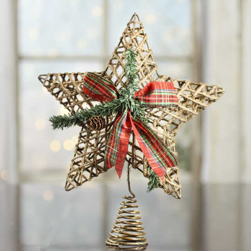 Sparkling Jute Star Tree Topper Trees And Toppers Christmas And