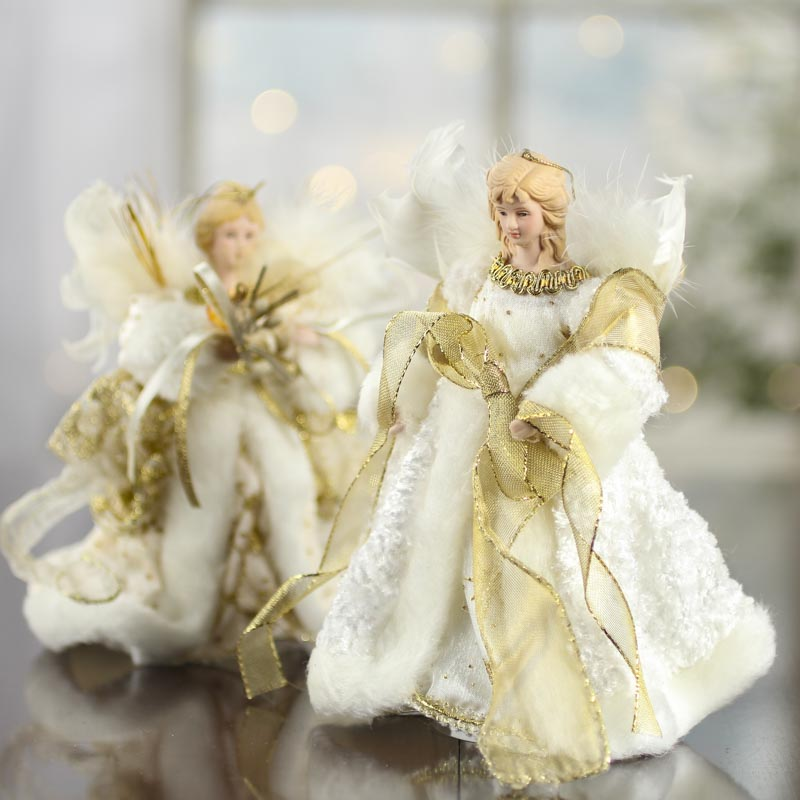 Celestial Porcelain Angel Tree Topper - Trees and Toppers ...