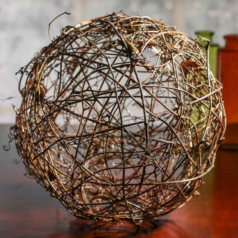 large natural grapevine twig ball vase and bowl fillers home decor