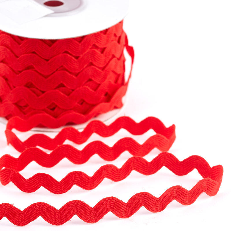 Red rick rack trim ribbon and trims craft supplies for Craft ribbons and trims
