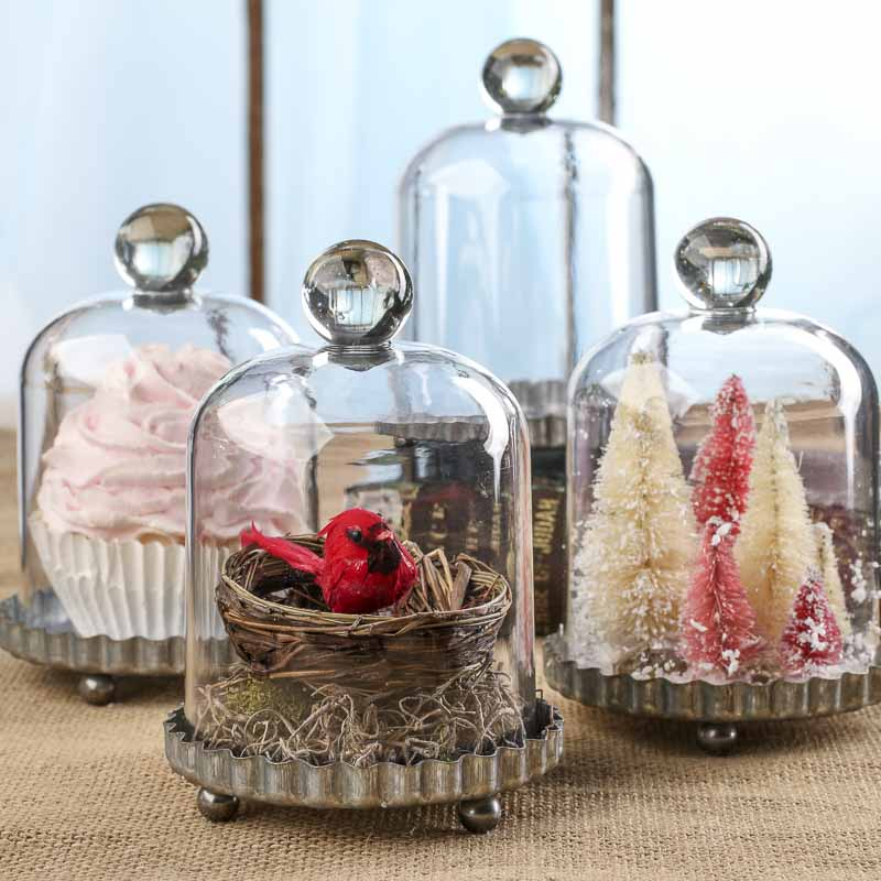 Decorative Accents For Home: Galvanized Acrylic Cloche