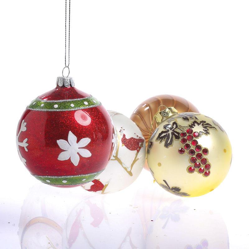 Religious Christmas Ornament Assortment: Assorted Glass Ball Christmas Ornaments