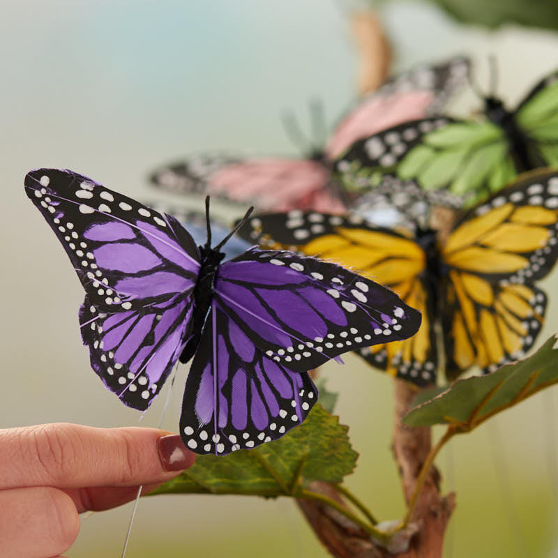 assorted pastel monarch artificial butterflies