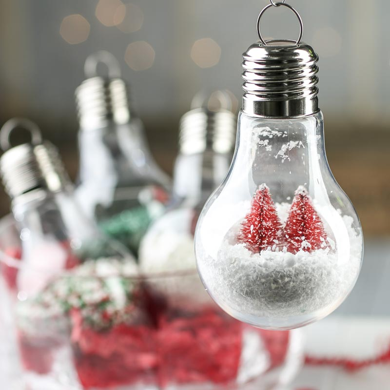 Christmas Light Bulb Ornaments