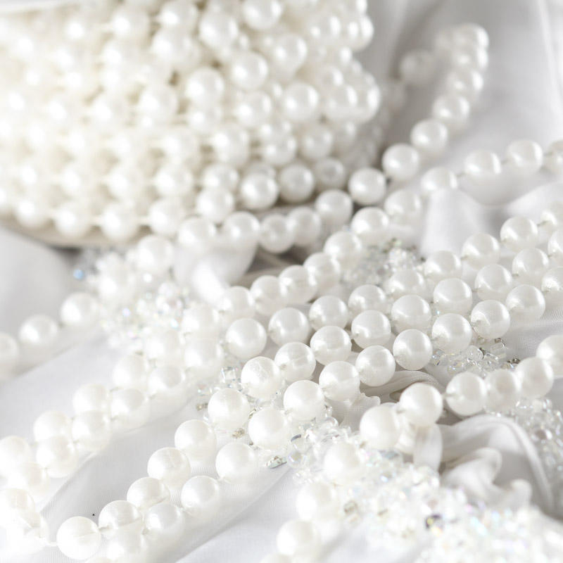 Pearl Wedding Decoration Ideas: White Fused String Pearl Beads