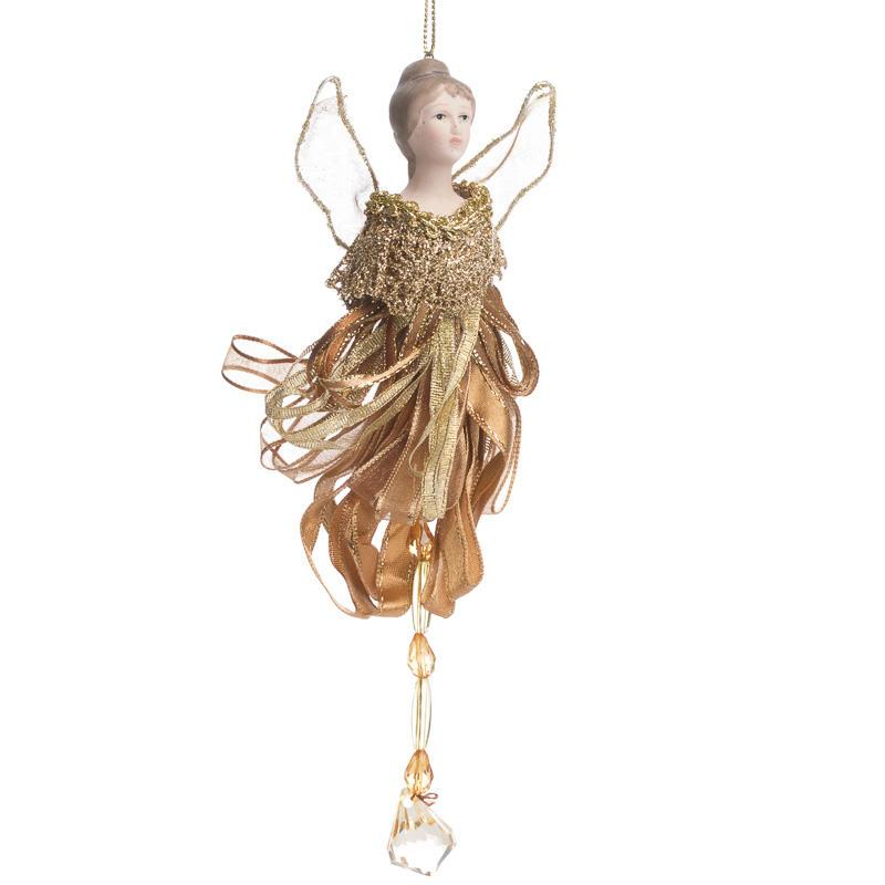 Vintage Religious Christmas Ornament: Vintage-Inspired Porcelain Angel Ornament