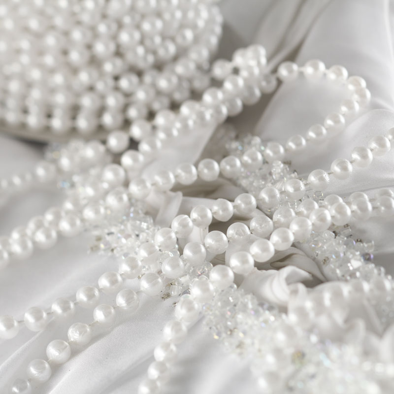 White Fused String Pearl Beads Pearls Spools Reception