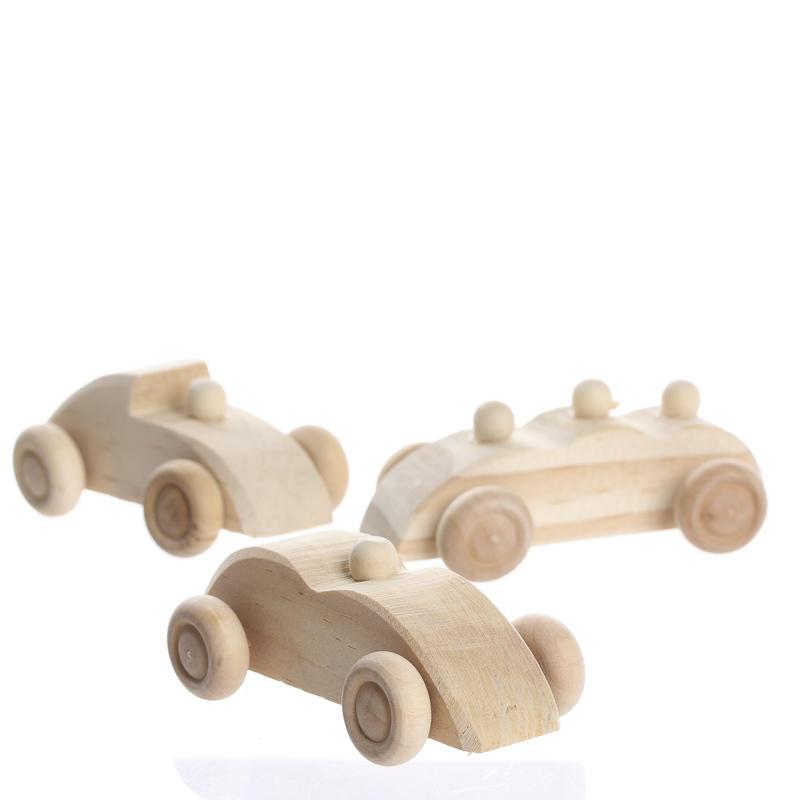 Unfinished Wood Model Cars