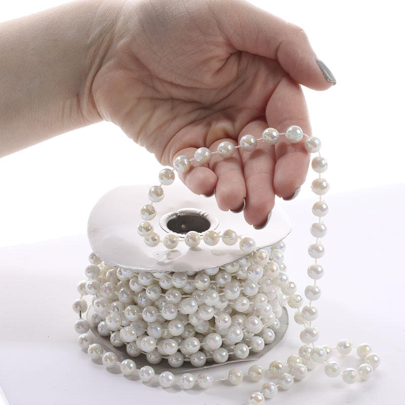 Pearl Beads: White Iridescent Fused String Pearl Beads